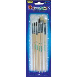 60 Units of Artist Brushes, 6 Pk., Asst Sizes - Paint, Brushes & Finger Paint