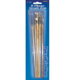 48 Units of Artist Brushes, 5 Pk., Asst. Sizes - Paint, Brushes & Finger Paint