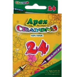 48 Units of 24 Count APEX Crayons - Chalk,Chalkboards,Crayons