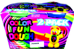 24 Units of 2 Pack Color Fun Dough - Clay & Play Dough