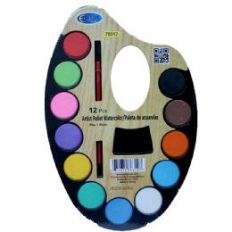 48 Units of Artist Water Color Pallet, 12 Colors, Paint Brush - Paint, Brushes & Finger Paint