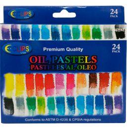 48 Units of Premium Quality Oil Pastels 24 Pack - Art Paints