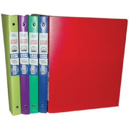 "48 Units of Poly Binder, 1/2"", Asst. Colors - Clipboards and Binders"