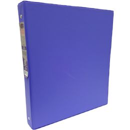 """48 Units of 1"""" Hard Cover (PVC Free) 3-Ring Binder - Purple - Clipboards and Binders"""