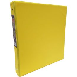 """24 Units of 1"""" Hard Cover (PVC Free) 3-Ring Binder - Neon Yellow - Clipboards and Binders"""