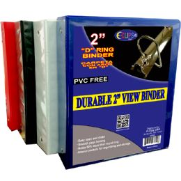 """12 Units of Vinyl view binder, 2"""" D ring, with pockets, black, white, red, blue - Clipboards and Binders"""