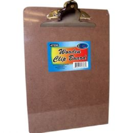 48 Units of Clip Board, 9 x 12.5, Wooden - Clipboards and Binders