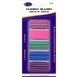 48 Units of 5 Pack Fashion Erasers - Erasers