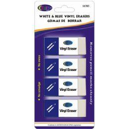 24 Units of Erasers - 4pk - White Viny - Erasers