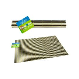 72 Units of 18x12'' Bamboo Placemat 3 Asst - Placemats
