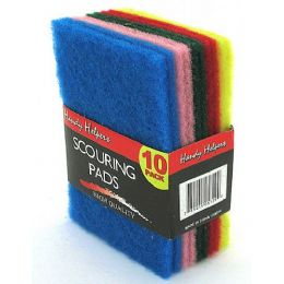 60 Units of Multi-colored scouring pads - Scouring Pads & Sponges