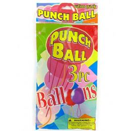 72 Units of Punch Balls Value Pack (set Of 3) - Balloons & Balloon Holder