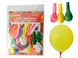 """144 Units of 24pc 9"""" Balloons"""