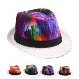 24 Units of Multi Colored Fedora Hat - Fedoras, Driver Caps & Visor