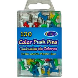 48 Units of Color Push Pins 60ct - Push Pins and Tacks