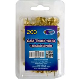 48 Units of Thumb Tacks, Gold, 200 Ct., - Push Pins and Tacks