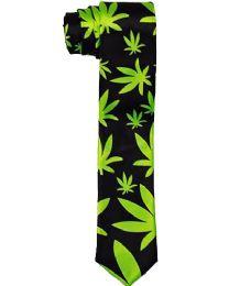 24 Units of Slim Marijuana Neck Tie - Neckties