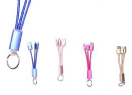 72 Units of Phone Charging Cable Key Chain - Cell Phone Accessories