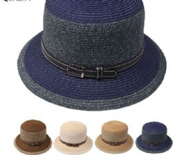 24 Units of Elegant Woman High Quality Bucket Hat - Bucket Hats
