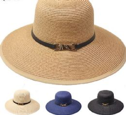 24 Units of Elegant High Quality Woman Summer Straw Hat - Sun Hats