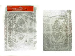 144 Units of 2pc Pvc Placemats With Silver Printing - Placemats