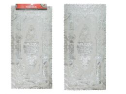 144 Units of Pvc Center Table Mat With Silver Printing - Placemats