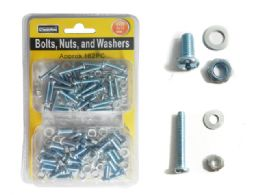 96 Units of Nuts, Bolts, & Washers Set - Drills and Bits