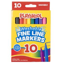 48 Units of Playskool Markers 10ct Fineline Washable Window - MARKERS/HIGHLIGHTERS