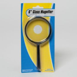 96 Units of Magnifier Real Glass 6in L 5x Power Statnry Blister Card - Magnifying  Glasses