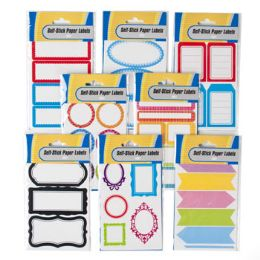 96 Units of 30-60 Count Self Stick Labels - Labels ,Cards and Index Cards