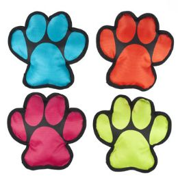 36 Units of Dog Toy Canvas W/squeaker Paw Shape Design 4 Colors - Pet Toys