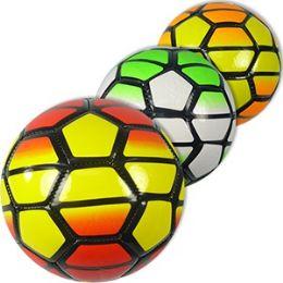 60 Units of No. 2 NEON GEOMETRIC SOCCER BALLS. - Balls