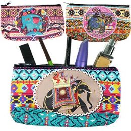 120 Units of RAJA ELEPHANT MAKEUP BAGS - Cosmetic Cases