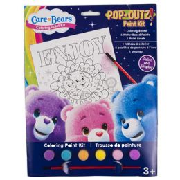 72 Units of Paint Kit Care Bears Coloring Board,6 Paints,1 Brush - Paint and Supplies