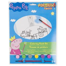 72 Units of Paint Kit Peppa Pig Coloring Board,6 Paints,1 Brush - Paint and Supplies