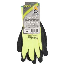72 Units of Medium Insulated Thermal Knit Green Glove - Kitchen Gloves