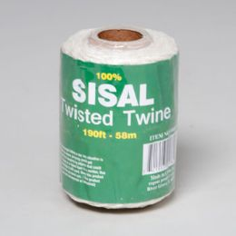 96 Units of Rope Twine 190' 100% Sisal Beige On Paper Core In Pdq #sis Twine 190 - Rope and Twine