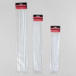 96 Units of 16pc Jumbo White Cable Ties - Cables and Wires