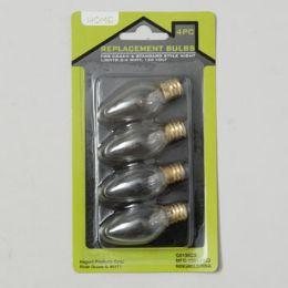 96 Units of Replacement Light Bulb 4pk 4W-120v 12pc Merchandising Strip Blister Carded - Lightbulbs