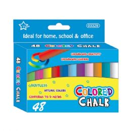 48 Units of Forty Eight Count colored chalks - Chalk,Chalkboards,Crayons