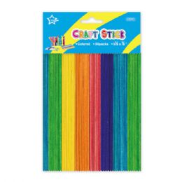 96 Units of Colored wooden craft stick - Craft Wood Sticks and Dowels