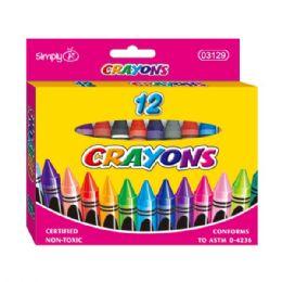 96 Units of Jumbo Crayon Twelve Count - Chalk,Chalkboards,Crayons