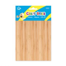96 Units of Wooden Craft Sticks - Craft Wood Sticks and Dowels
