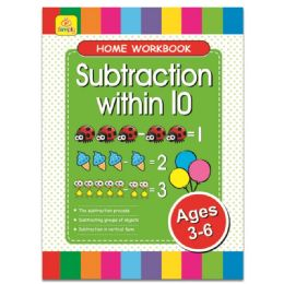 96 Units of Education Book Subtraction - Coloring & Activity Books