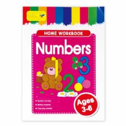96 Units of Education Book Numbers - Coloring & Activity Books