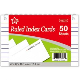 144 Units of Index Card Fifty Count - Labels ,Cards and Index Cards