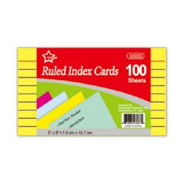 144 Units of Index cards hundred count colored - Labels ,Cards and Index Cards