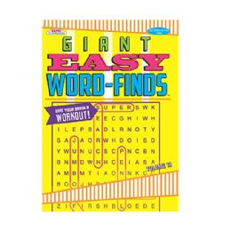 80 Units of Giant easy word finds - Crosswords, Dictionaries, Puzzle books