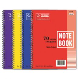 96 Units of 1 Subject 70 Count Notebook - Note Books & Writing Pads