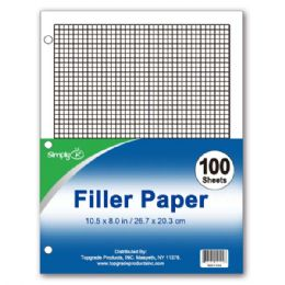 96 Units of One Hundred count graph filler paper - Paper